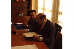 Sebastián Pérez, presidente de la Diputación, visita Alhendín