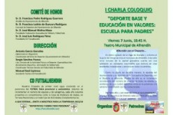 Alhendín acogerá la I Charla-coloquio Deporte base y educación en valores: Escuela para padres