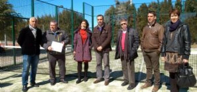 Recepcionada la nueva pista de pádel en la que se han invertido 35.000 euros