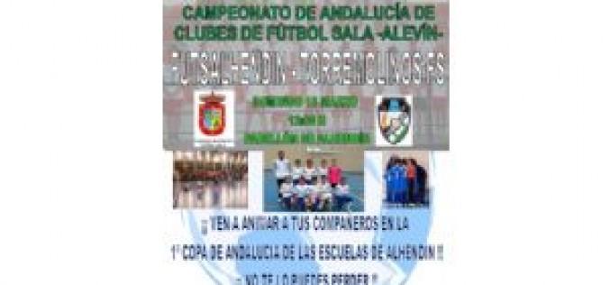 El alevín A de fútbol sala juega la final del Campeonato de Andalucía el domingo