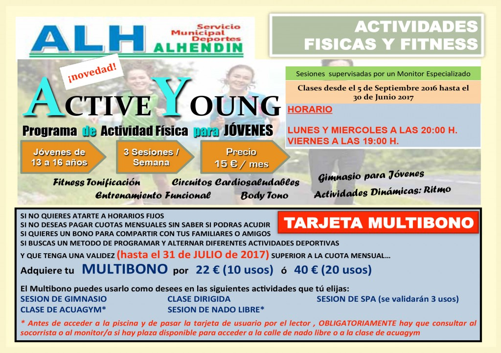 fitness activ young