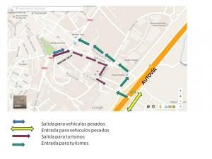 Accesos alternativos Obras Avda Andalucía