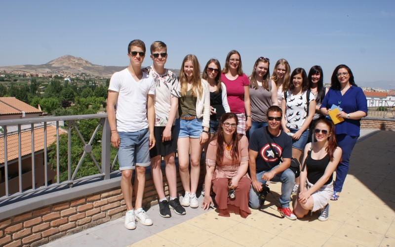 Nueve jóvenes alemanes disfrutan de un intercambio con alumnos del IES Alhendín