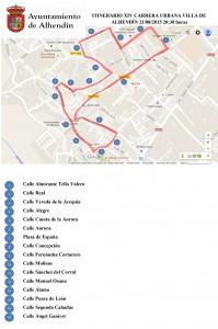 Itinerario XIV Carrera Urbana Villa de Alhendín-1