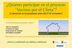 Se buscan vecinos que quieran participar en un proyecto de ahorro energético