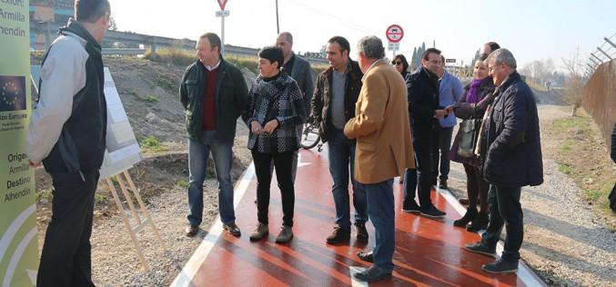 El alcalde reitera a la delegada de Fomento la necesidad de que el carril bici sobre el Río Dílar se conecte con Alhendín y Granada