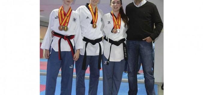 Merecida recepción a tres campeones de España en Taekwondo