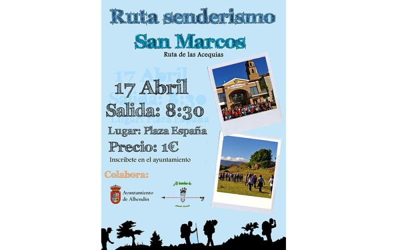 Alhendín celebrará San Marcos con dos rutas senderistas por las acequias del municipio