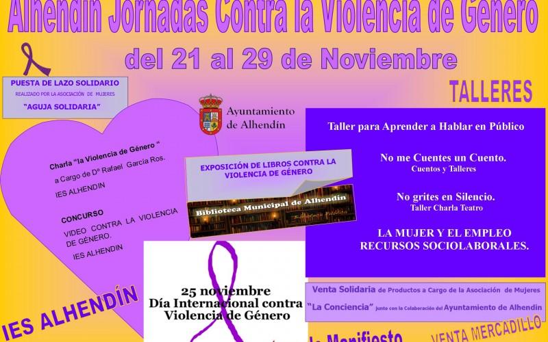 Alhendín celebra el Día contra la violencia de género con una semana intensa de actividades