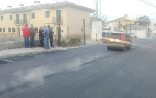 Culminan las obras de asfaltado del Camino de Jayena