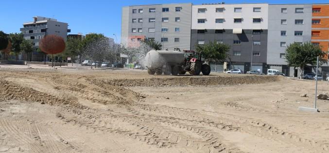 El Ayuntamiento dota al barrio de Novosur de pistas polideportivas